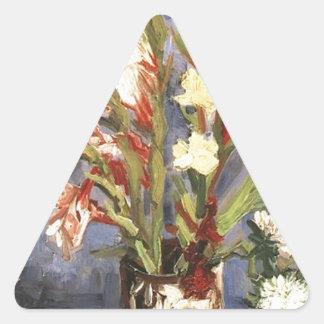 Public Domain Van Gogh Vintage Flower Image Stickers