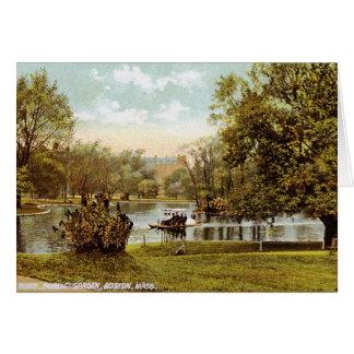 Public Garden, Boston 1909 Vintage Card