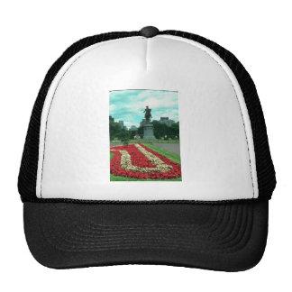 Public gardens, Boston, Massachusetts flowe Mesh Hats