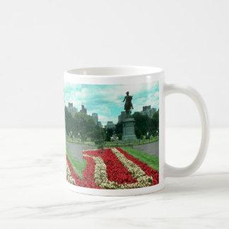 Public gardens, Boston, Massachusetts flowe Mugs