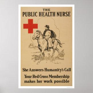 Public Health Nurse - She answers humanity s call Print