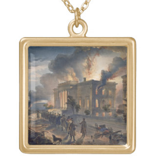 Public Library and Temple of the Winds, plate from Gold Plated Necklace