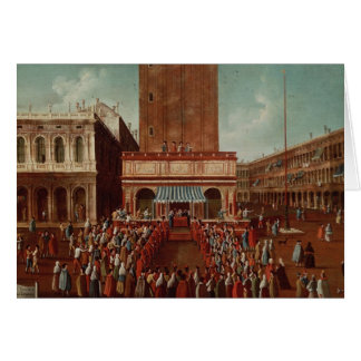 Public Lottery at Loggetta, the Piazza San Card