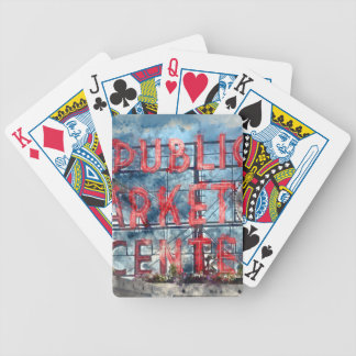 Public Market Center in Seattle Washington Bicycle Playing Cards