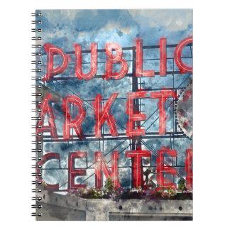 Public Market Center in Seattle Washington Note Book