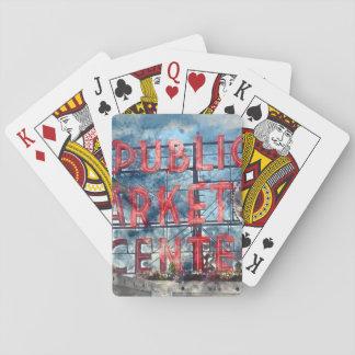 Public Market Center in Seattle Washington Poker Deck