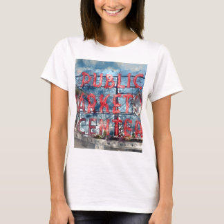 Public Market Center in Seattle Washington T-Shirt