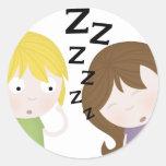 Public Narcolepsy Round Sticker