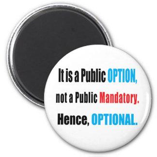Public Option Fridge Magnet