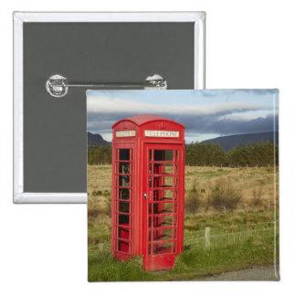 Public Phone Box, Ellishadder, near Staffin, 15 Cm Square Badge