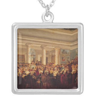 Public Sale at the Hotel Bullion Silver Plated Necklace