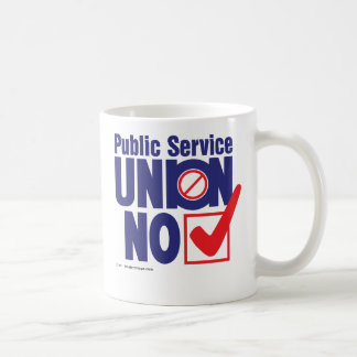 Public Service Union NO Basic White Mug