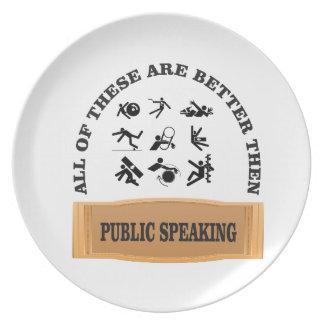 public speaking bad plate