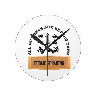 public speaking bad wallclock