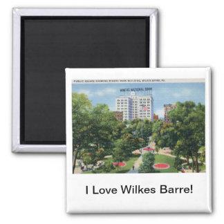 Public Square, Wilkes-Barre PA Vintage Square Magnet