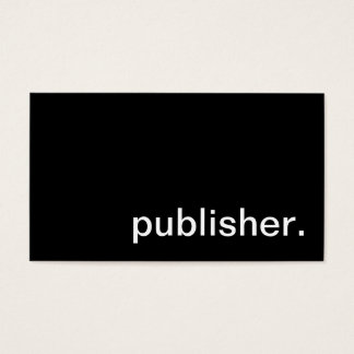 Publisher Business Card