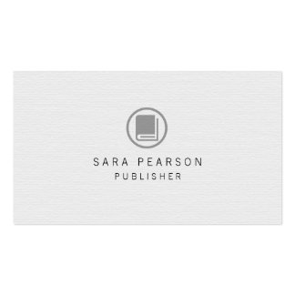 Publisher Elegant Book Icon Publishing Double-Sided Standard Business Cards (Pack Of 100)
