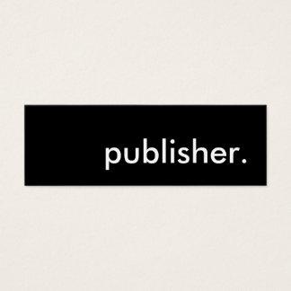 publisher. mini business card