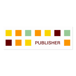 PUBLISHER (mod squares) Pack Of Skinny Business Cards