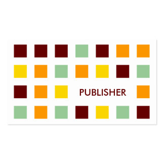 PUBLISHER (mod squares) Pack Of Standard Business Cards