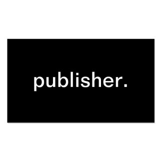 Publisher Pack Of Standard Business Cards
