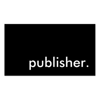 publisher. pack of standard business cards