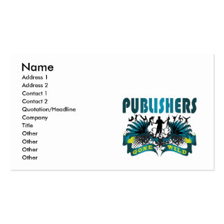 Publishers Gone Wild Business Card Templates