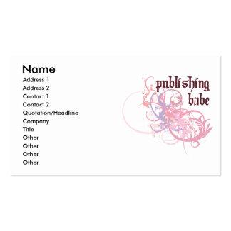 Publishing Babe Business Cards