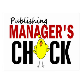 PUBLISHING MANAGER'S CHICK POSTCARD