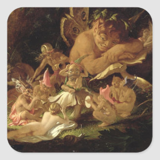 Puck and Fairies, from 'A Midsummer Night's Dream' Square Sticker