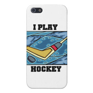 Puck and Stick I Play Hockey and Gifts iPhone 5 Case