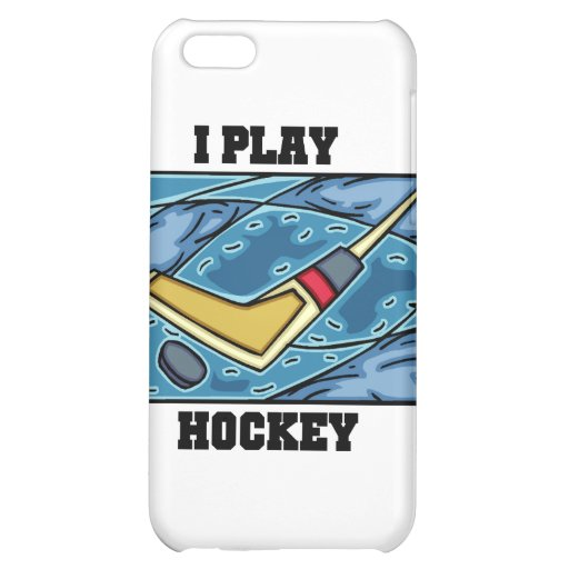 Puck and Stick I Play Hockey and Gifts iPhone 5C Cover