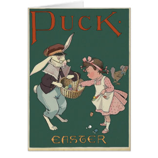 Puck East Vintage Style Greeting Card