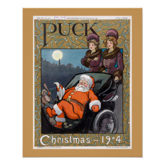 Puck Magazine Cover Christmas 1904 Poster