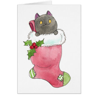Puck Stocking Greeting Card