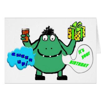 """Puddigan"" Birthday Card"