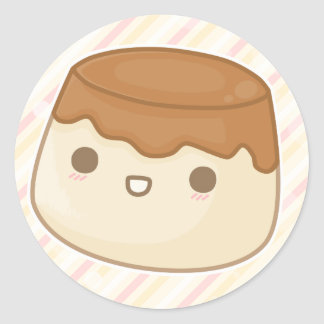 pudding classic round sticker
