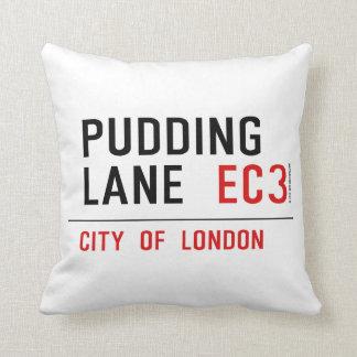 Pudding Lane Throw Pillow