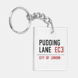 Pudding Lane Double-Sided Square Acrylic Key Ring