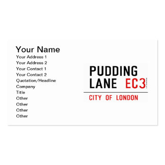 Pudding Lane Pack Of Standard Business Cards