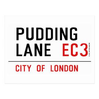 Pudding Lane Postcard