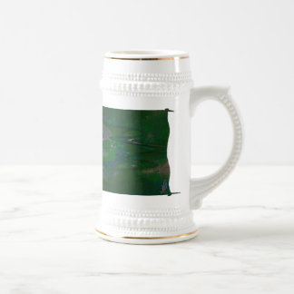 Puddlewug's Lotus Pond Abstract Art Beer Steins