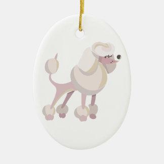 Pudel Hund poodle dog Ceramic Oval Decoration