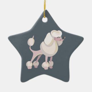 Pudel Hund poodle dog Ceramic Star Decoration