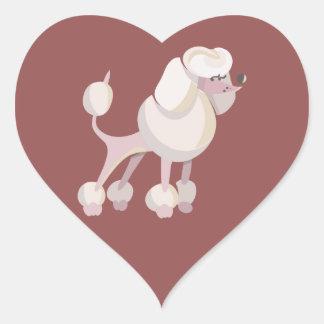 Pudel Hund poodle dog Heart Sticker