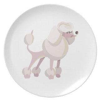 Pudel Hund poodle dog Plate