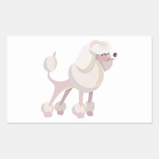 Pudel Hund poodle dog Rectangular Sticker