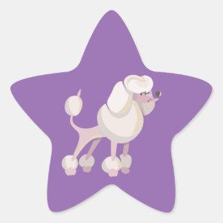 Pudel Hund poodle dog Star Sticker