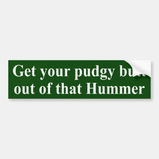 Pudgy Butt Hummer Sticker