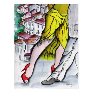 Pueblo Blanco Tango Postcard